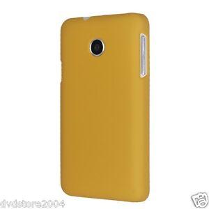 Dettagli su Custodia BACK GIALLA Cover Case per Huawei Ascend Y330 Rigida Hard Plastica