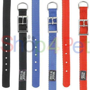 DOG-COLLARS-Walk-039-r-039-Cise-Neck-Size-14-18-22-amp-26-Inch-Nylon-in-3-Colours