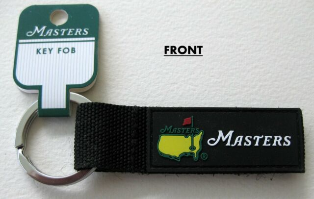 2018 Augusta National MASTERS GOLF, BLACK, DOUBLE-SIDED Tournament Key Chain