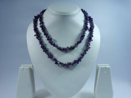 32.798 Inch 71 Gm Natural Semi-Precious Purple Amethyst Gemstone Uncut Necklace