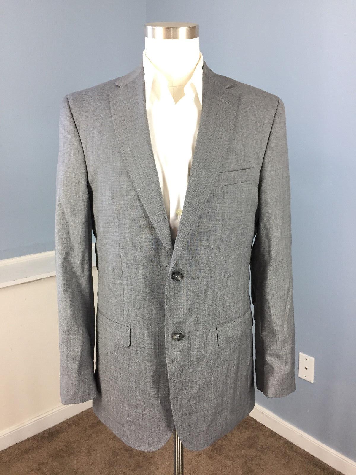 Joseph JOS A BANK Slim Fit grau  Suit 40 L WOOL Flat 33 Waist Excellent