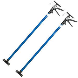 Puntal Expansión Telescópico Reforzado Soporte para Techo 115-290 cm Azul