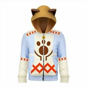 Monster-Hunter-X-Cross-Cat-Hunter-Hoodie-Capcom-Game-Cosplay-M-size