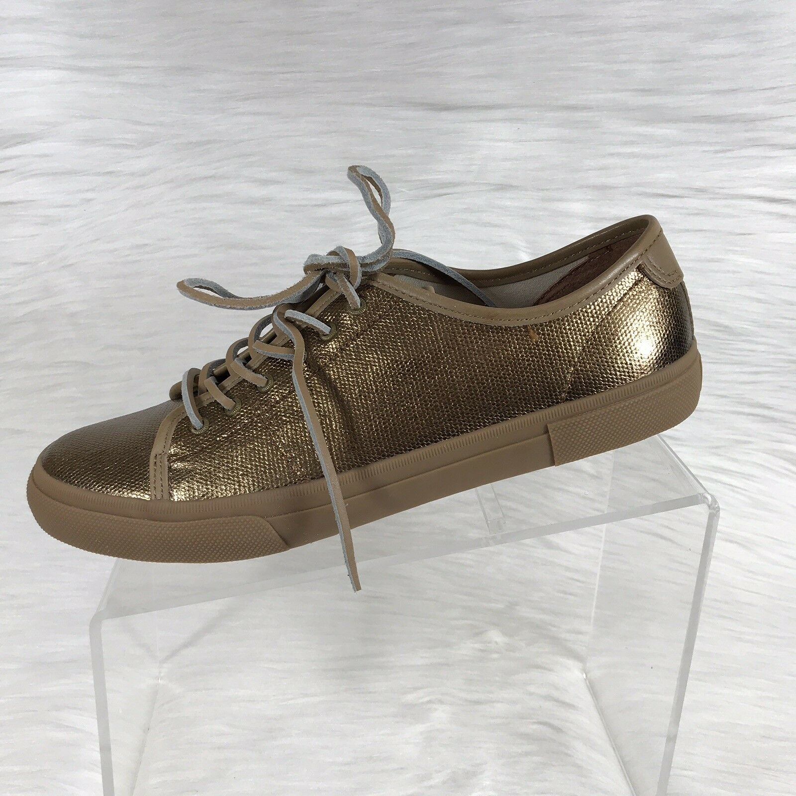 Frye Women's Gia Fashion Sneakers Canvas Low Lace Bronze Size 10 M NIB