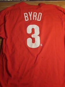 Philadelphia-Phillies-Marlon-Byrd-3-Majestic-Baseball-MLB-Shirt-Men-039-s-XL
