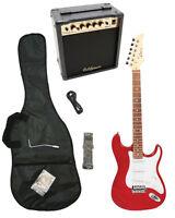 RED-MET Electric Guitar+15w AMP+Strap+Cord+Gigbag NEW