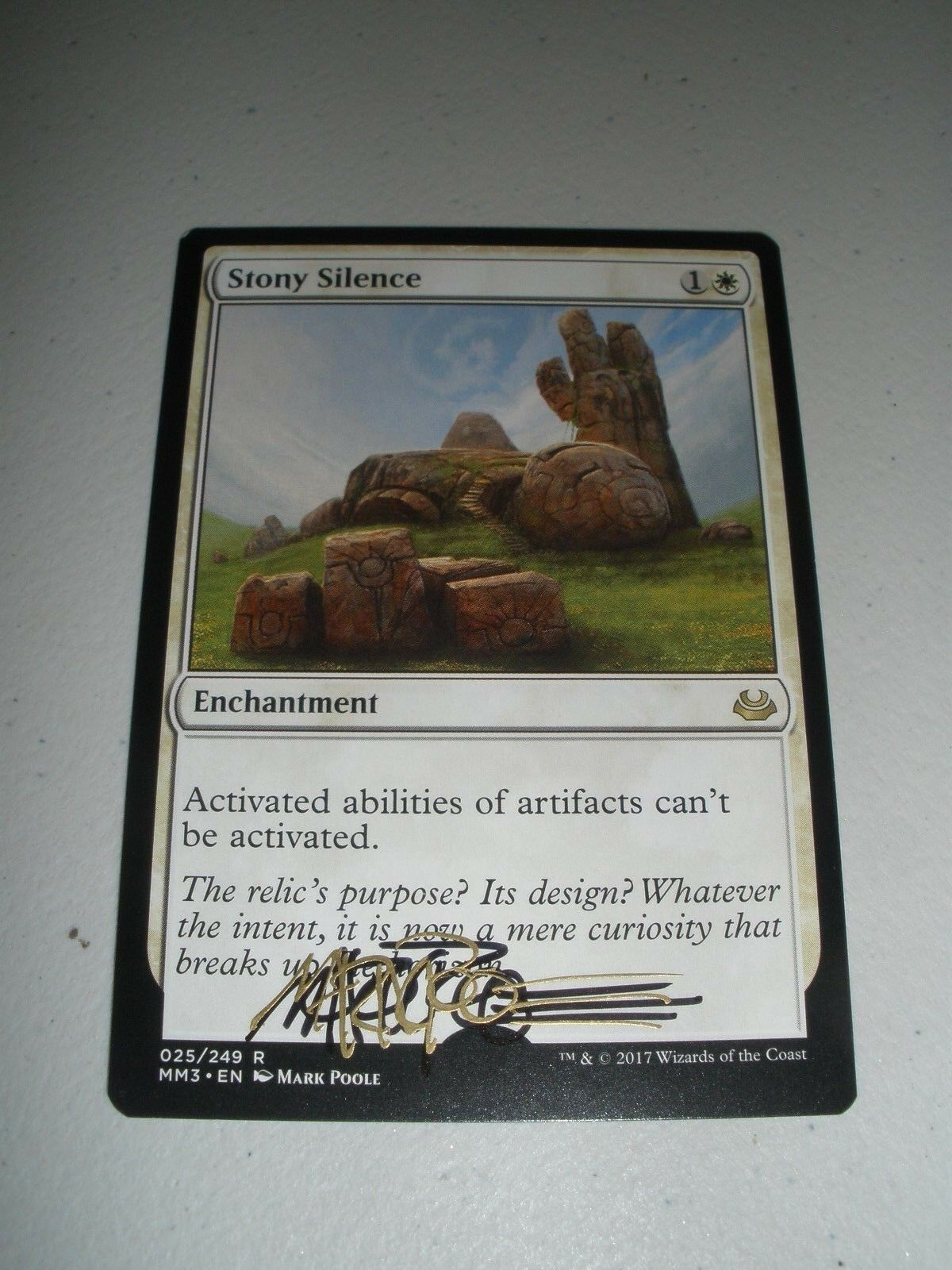 MTG Magic Signed Artist Proof Stony Silence x1 (w  Sketch) MM 2017 LP-NM