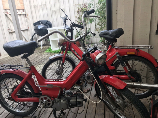 Puch P model, 1980, 1 km, Rød, Match nummer. I god stand…
