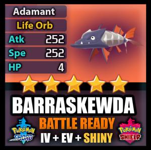 Pokemon-espada-y-un-escudo-6IV-barraskewda-brillante-batalla-listo-no-mimikyu-no-idem