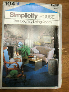 Sewing Pattern Vintage Simplicity 104 1979 Country Living Room