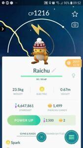Raichu ( Beanies Hat ) Trading Pokemon GO