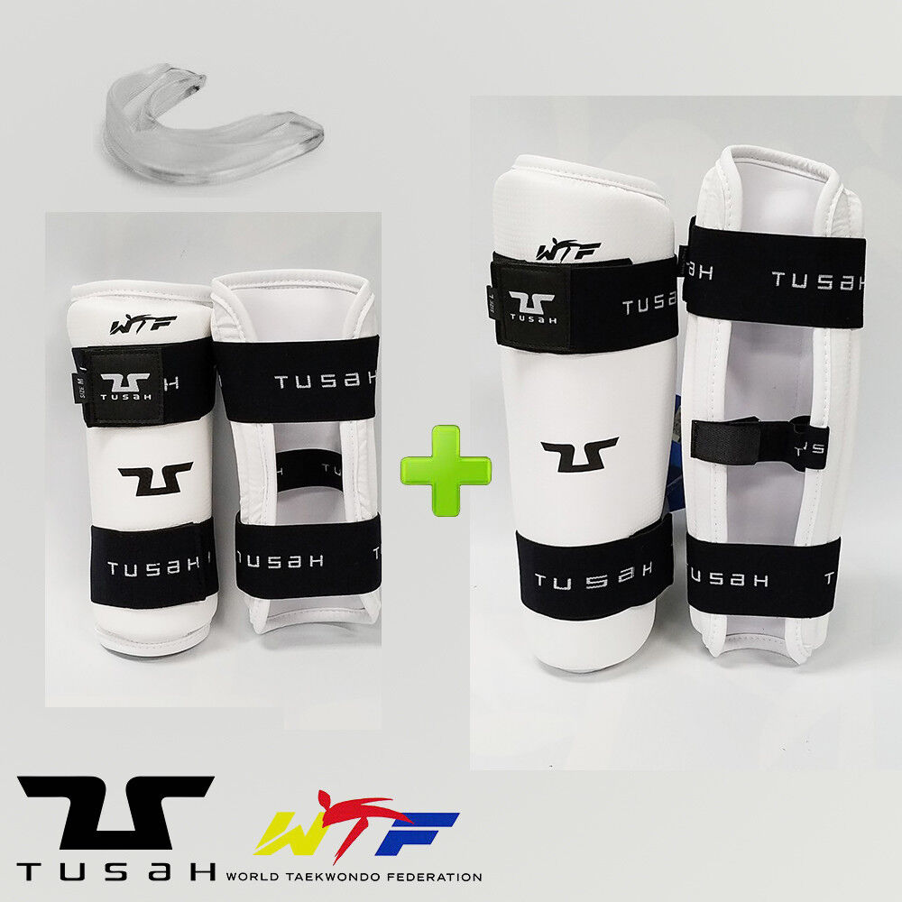 New  Tusah Taekwondo WTF Competition Sparring Gear Set w  Mouthguard