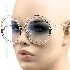 2777078d8c Big Round Circle Oversized Double Wire Sunglasses Metal Frame Retro Elite  Shades