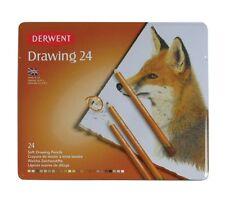 Derwent Drawing 24 Tin - Assorted Nature & Wildlife Colour Artist Pencils Set