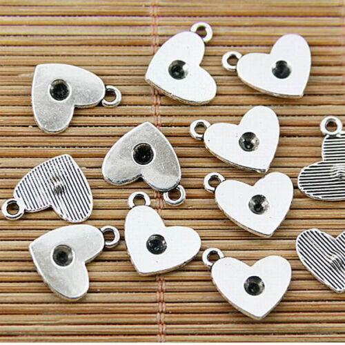 32pcs tibetan silver plated nice heart pendant charms EF1718