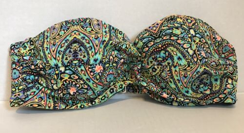 Victoria/'s Secret Mosaic Garden Knockout Bandeau Bikini Top *READ*