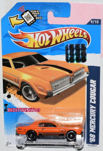Hot Wheels 2012 Muskel Mania-Ford 68 Mercury Cougar Orange Fabrik Verpackt