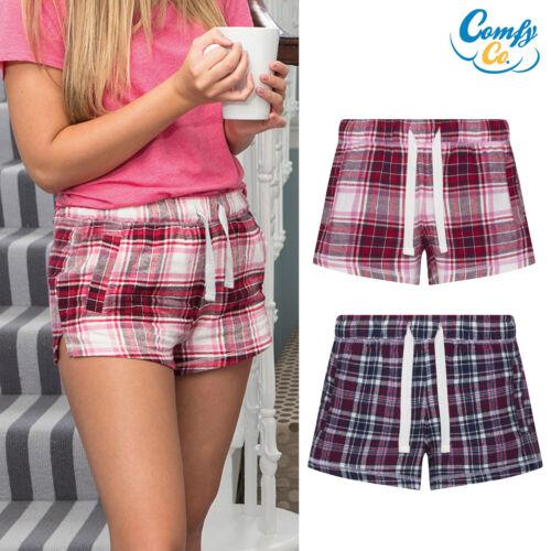 Comfy Co Womens//Gals Flannel Shorts CC037 Nightwear Pyjama Shorts