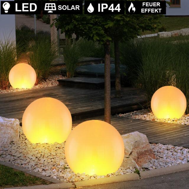 2//4xLED Garten Solar Leuchte Steck Außen Weg Lampe Feuer-Effekt FACKEL Erdspieß