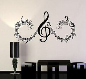 Image Is Loading Vinyl Wall Decal Musical Notes Music Art Home