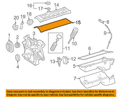 MERCEDES OEM 05-06 E320 3.2L-L6 Engine-Valve Cover Gasket 6480160021 ...