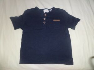 Zara-Baby-Boys-Blue-Short-Sleeve-T-Shirt-Size-6-9-Months