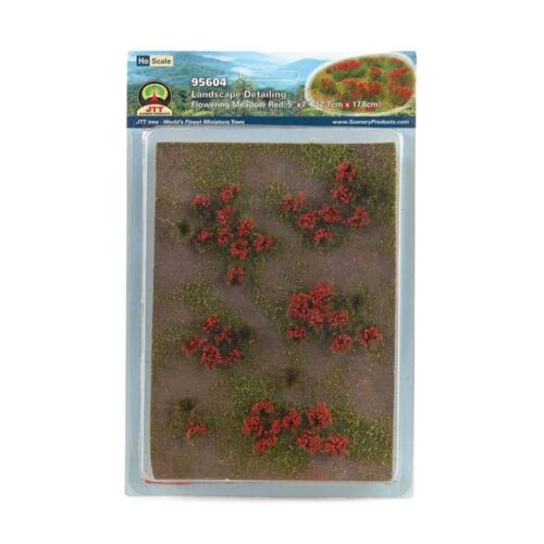 HO-Scale 95604 Scenery 5x7 Landscaping Details Red Flowering Meadow NIB JTT