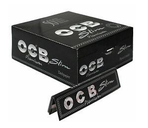 1-5-10-25-50-OCB-PREMIUM-BLACK-KING-SIZE-SLIM-SMOKING-CIGARETTE-ROLLING-PAPERS
