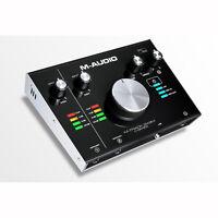 M-audio M-track 2x2m Usb Audio Recording Interface With Midi I/o +picks