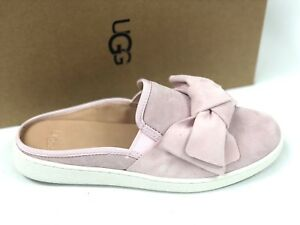 4452e9abd3a Details about Ugg Australia Womens LUCI BOW Seashell Pink 1092515 Shoes  Slip On Suede Sneakers
