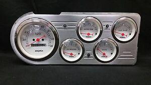 1932 Ford Car 5 Gauge Dash Cluster Panel Set Mechanical Tan