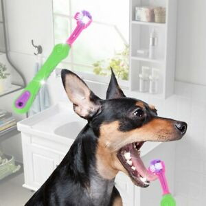Three-Tooth-Anti-Slip-Cleaning-Oral-Dental-Care-Pet-Dog-Toothpaste-Toothbrush