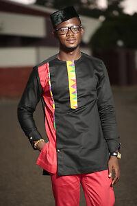 b64253f5e07 Kente   Black cotton Men s African Clothing Men s Fashion African ...