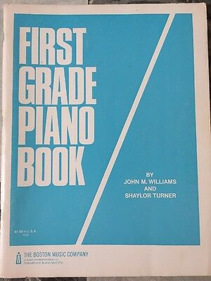 Vintage First Grade Piano Book By John Williams And Shaylor Turner 1966 NOS!