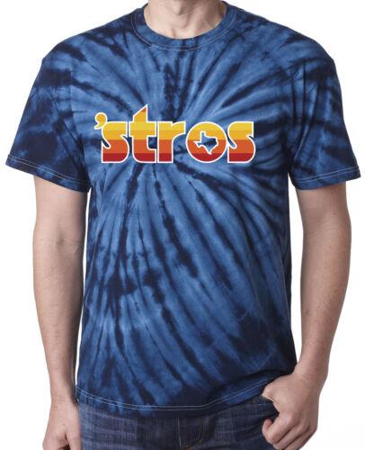 "Tie-Dye NAVY Houston Astros Jose Altuve George Springer /""STROS/"" T-Shirt"