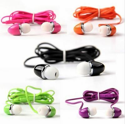 Universal Candy Color Earphones Headphones with Remote & Mic for Cellular Phones
