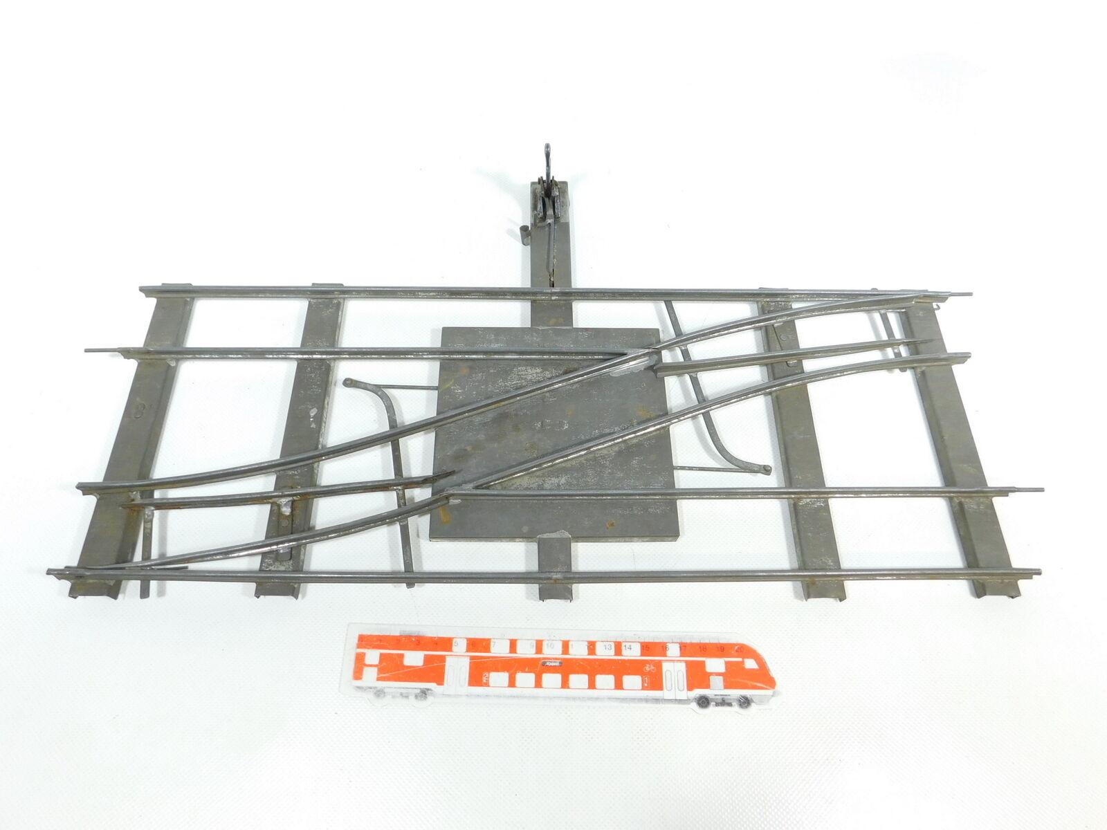 BW49-3  Märklin Spur 1 Parallel-Weiche Parallelweiche für Uhrwerk-Betrieb