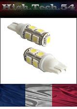 2 AMPOULES 9 LEDs SMD W5W T10  BLANC FEUX DE POSITION-VEILLEUSES PUISSANTE*