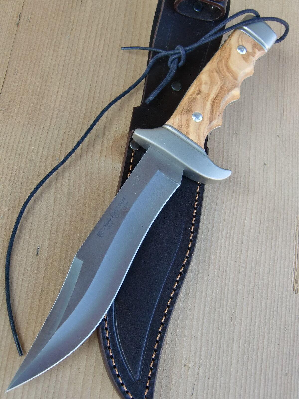 NIETO - Bowie Stahl AN.58 - Messer- Jagdmesser Bowiemesser Bowiemesser Bowiemesser - Olivenholz-Schalen f1d34f