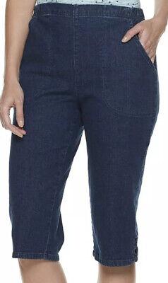 Croft /& Barrow Pull-on Skimmers NWT Womens Blue Denim Elastic Waist Stretch