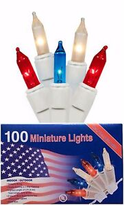 Patriotic Christmas.Details About Patriotic Christmas In July Decoration String Lights 100 Mini Red White And Blue