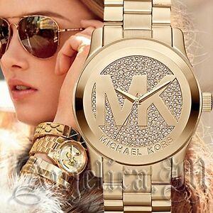 Michael-Kors-uhr-damenuhr-mk5706-runway-xxl-farbe-gold-kristall-neu