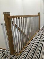 Staircase Solution Stair Parts, Refurbish Landing Kit, Chrome Or Brushed Metal