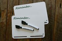2x A5 Slotted Magnet Whiteboard Fridge Reminder Memo Notepad Message +4FREEpen