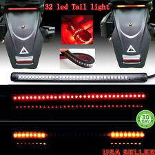 "Motorcycle Integrated 32 LED 8"" Tail Brake Stop Turn Signal Flexible Light Strip"