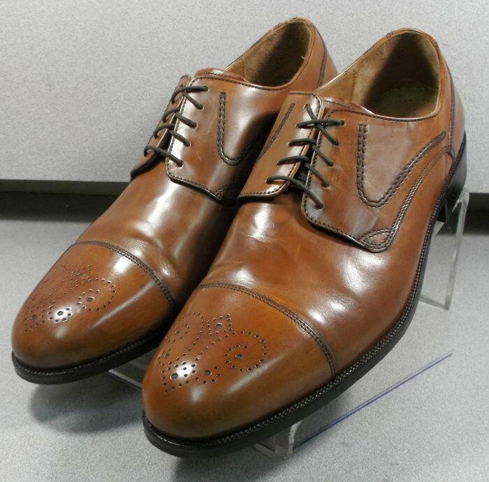 157072 WT50 Men's Shoes Size 8.5 M Tan Leather Lace Up Johnston Murphy Walk Test