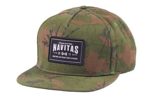 Navitas Camo MFG Snapback Cap Hat NEW Carp Fishing