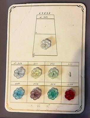 "1//2/"" TWENTY 20 Vintage Czech Glass GRAY SPIDER BUTTONS"