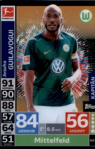 Topps Match Attax Action 18//19-441-Joshua Guilavogui-Capitaine