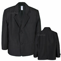 Boy Baby Kid Teen Formal Wear Wedding Party Church Blazer Black Jacket Coat S-20